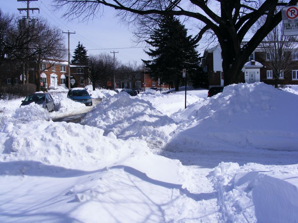 montreal neige -cote photo